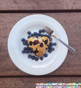 Heidelbeer Muffin auf Teller