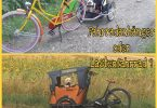 Fahrradanhänger oder Lastenfahrrad