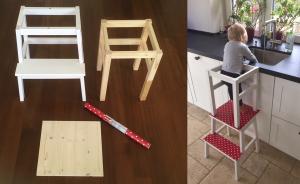 lernturm ganz einfach selbst gebaut ikea hack. Black Bedroom Furniture Sets. Home Design Ideas